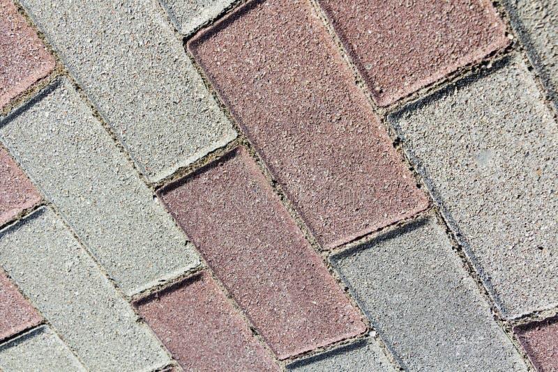 五颜六色的铺路板,边路瓦片背景路纹理马赛克 库存图片