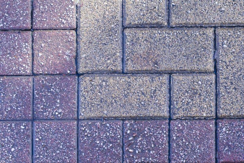 五颜六色的铺路板,边路瓦片背景?路纹理马赛克 雅典,希腊 免版税库存照片