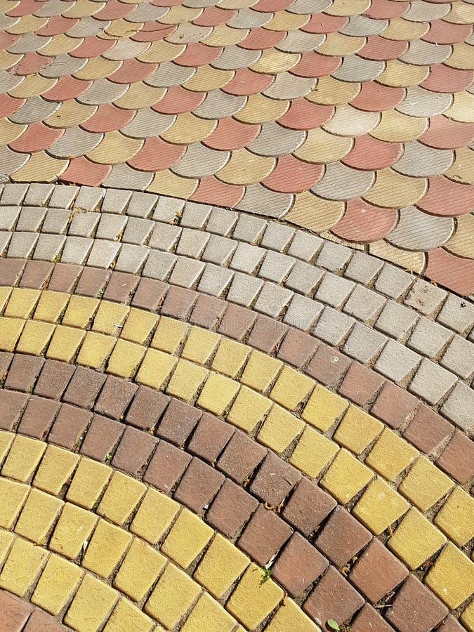 五颜六色的铺路石 库存照片