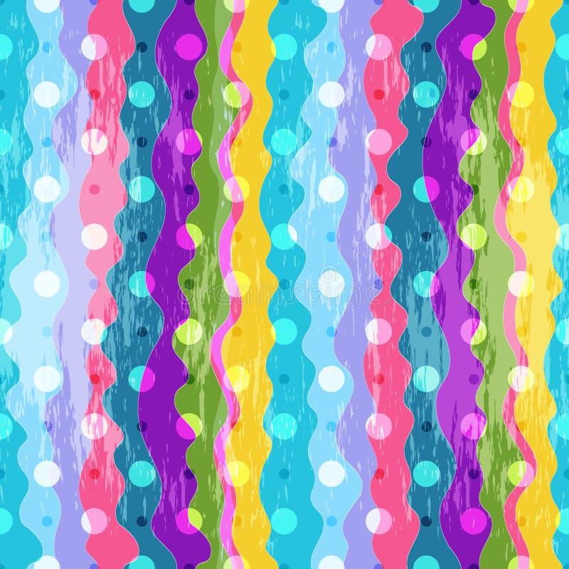 五颜六色的镶边无缝的样式 皇族释放例证