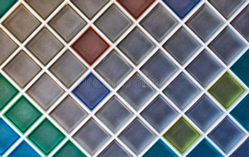 五颜六色的陶瓷锦砖 背景 库存照片