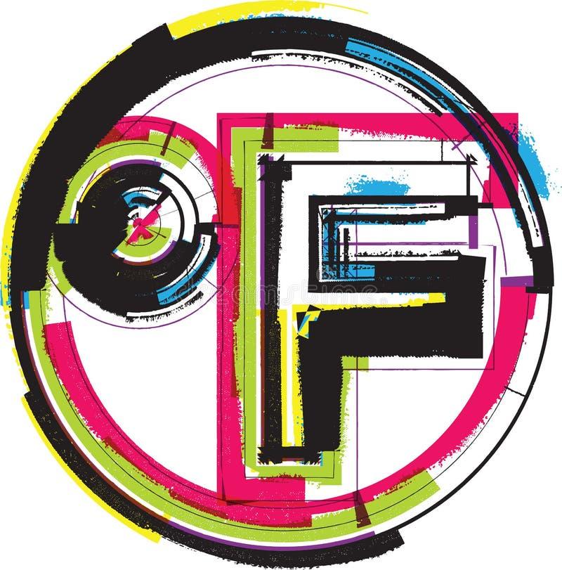五颜六色的难看的东西标志 库存例证