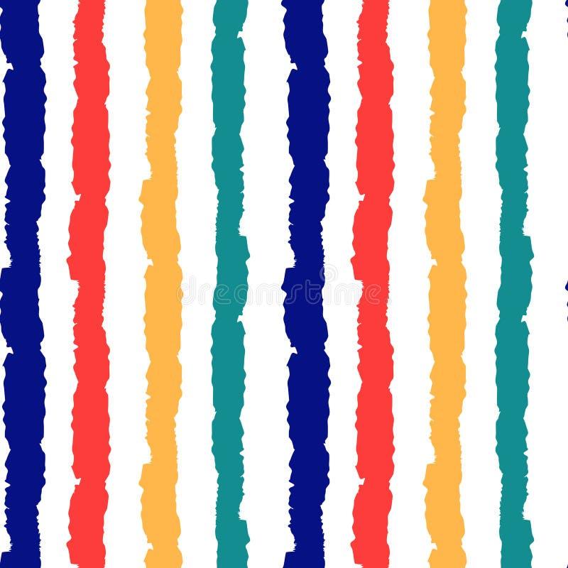 五颜六色的难看的东西镶边无缝的传染媒介样式背景例证 向量例证