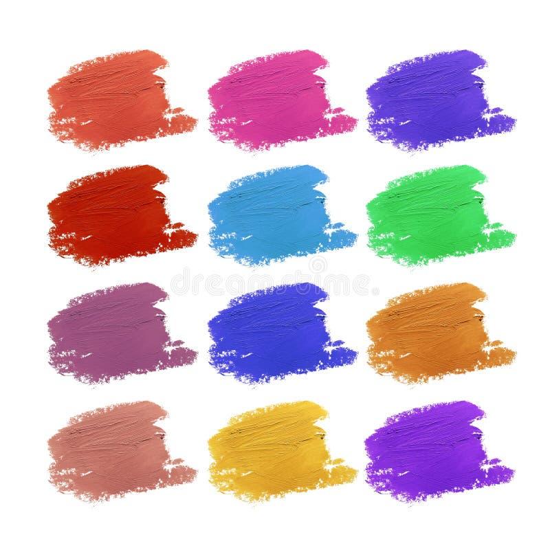 五颜六色的集合唇膏 库存图片