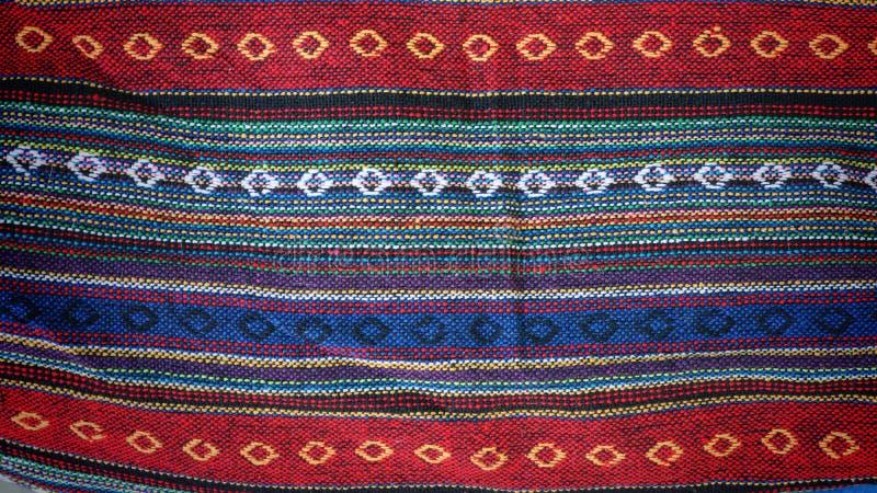五颜六色的靛蓝布料纺织品 免版税图库摄影