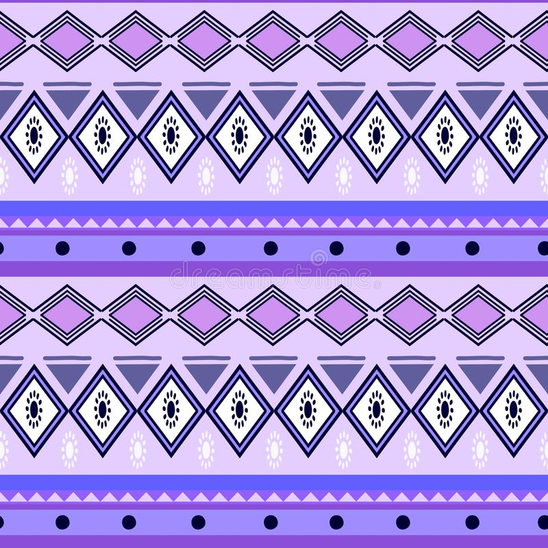 五颜六色的非洲人部族种族无缝的样式漂泊阿兹台克样式背景抽象传染媒介例证准备好时尚 皇族释放例证