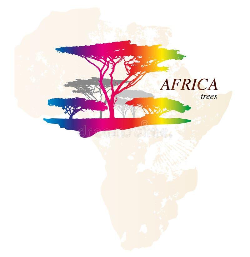 五颜六色的非洲映射 库存例证
