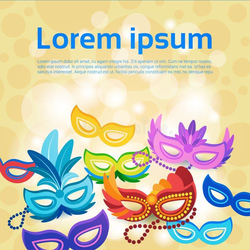 五颜六色的面具巴西狂欢节里约节日晚会庆祝 皇族释放例证
