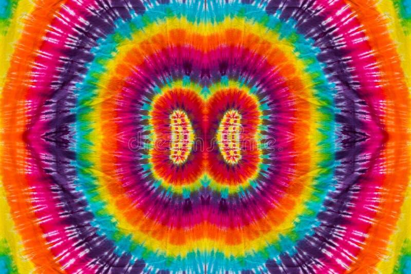 五颜六色的领带染料螺旋样式设计 库存照片