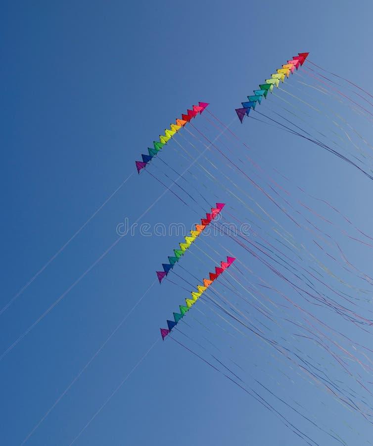 五颜六色的风筝特技 库存照片