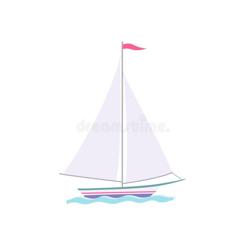 五颜六色的风船平的象 库存例证