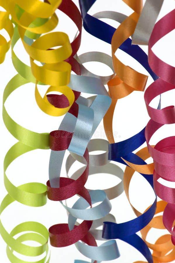 五颜六色的飘带 免版税库存照片