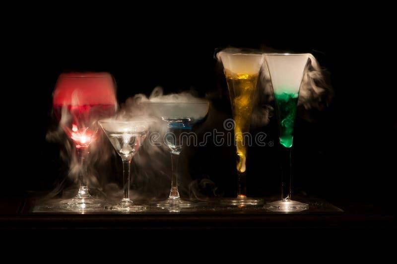 五颜六色的饮料 免版税库存照片