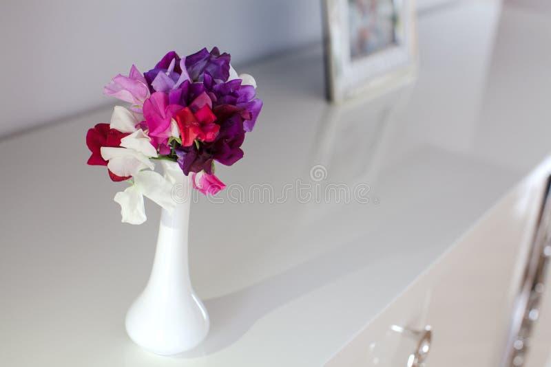五颜六色的香豌豆花花 库存图片