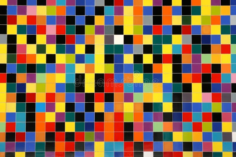 五颜六色的马赛克模式瓦片 免版税库存照片