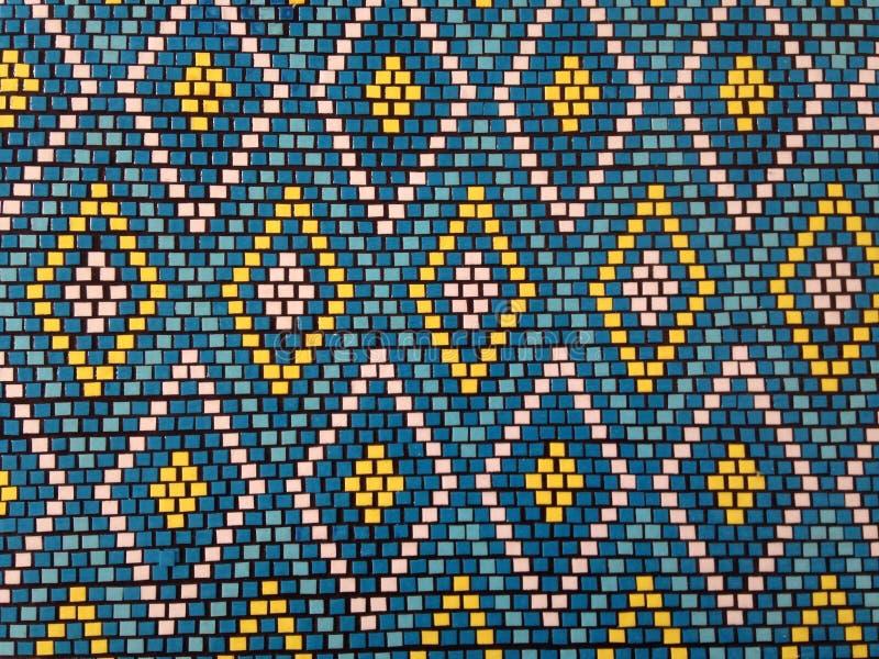 五颜六色的马赛克的样式在东部样式的 免版税库存图片