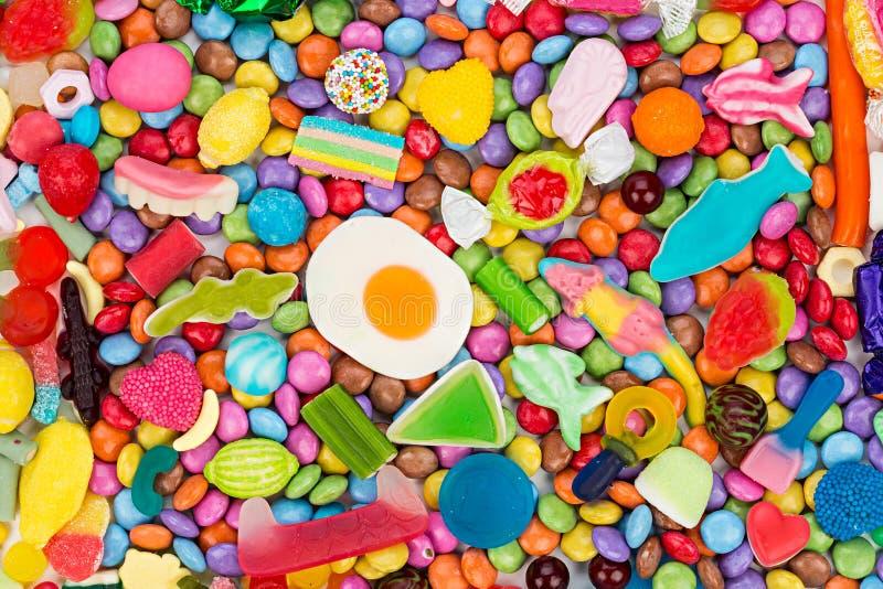 五颜六色的鲜美糖果 库存照片