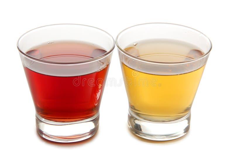 五颜六色的鸡尾酒瓶子 免版税库存图片
