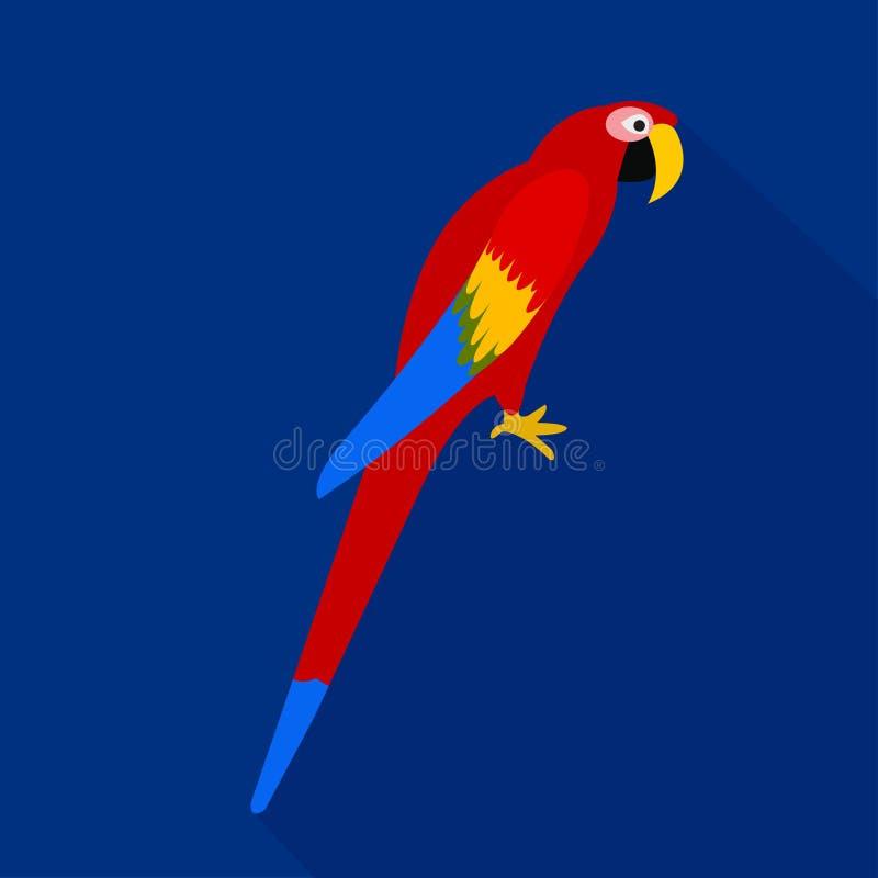五颜六色的鹦鹉动画片平的象 面包渣 也corel凹道例证向量 向量例证