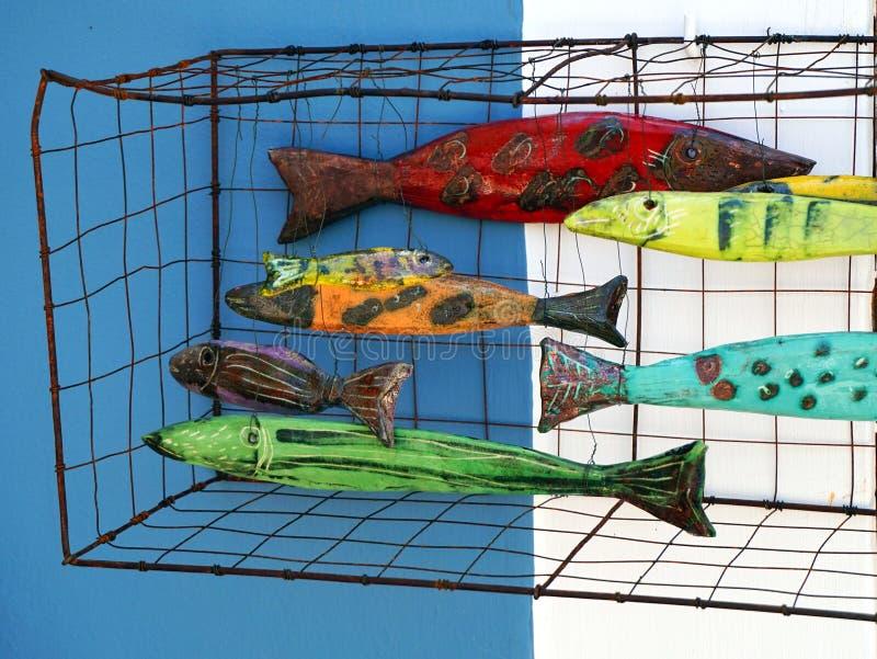 五颜六色的给上釉的鱼 免版税库存图片