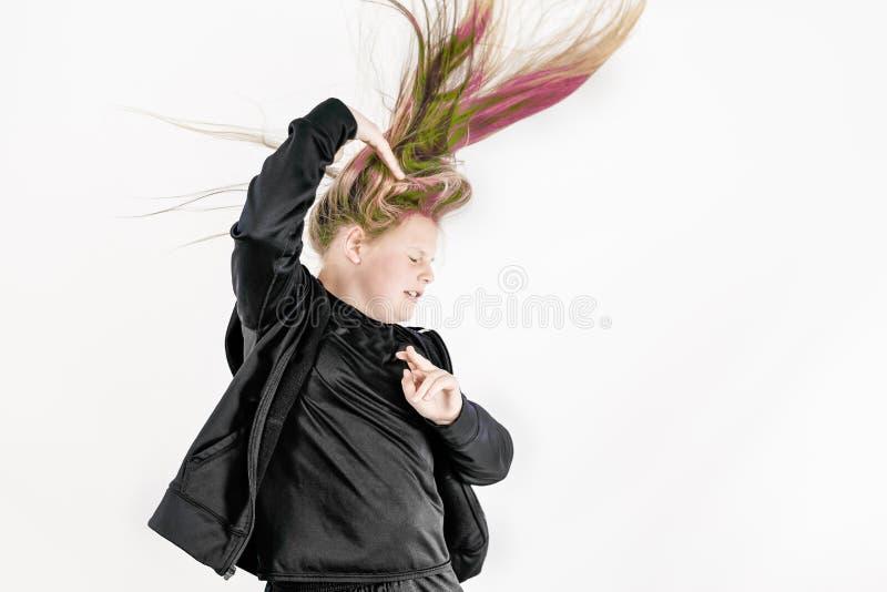 五颜六色的头发 免版税库存图片