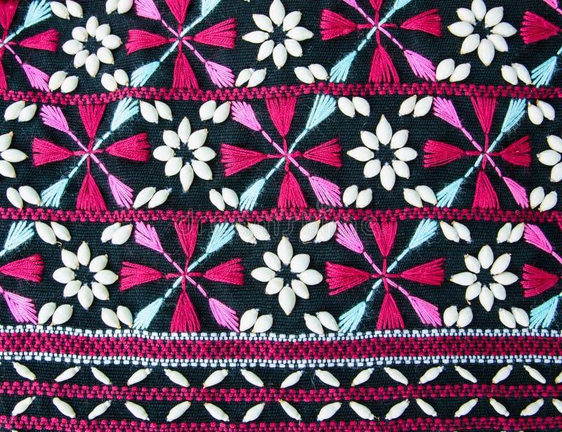 五颜六色的织品工艺品样式表面被编织的纺织品 免版税库存图片