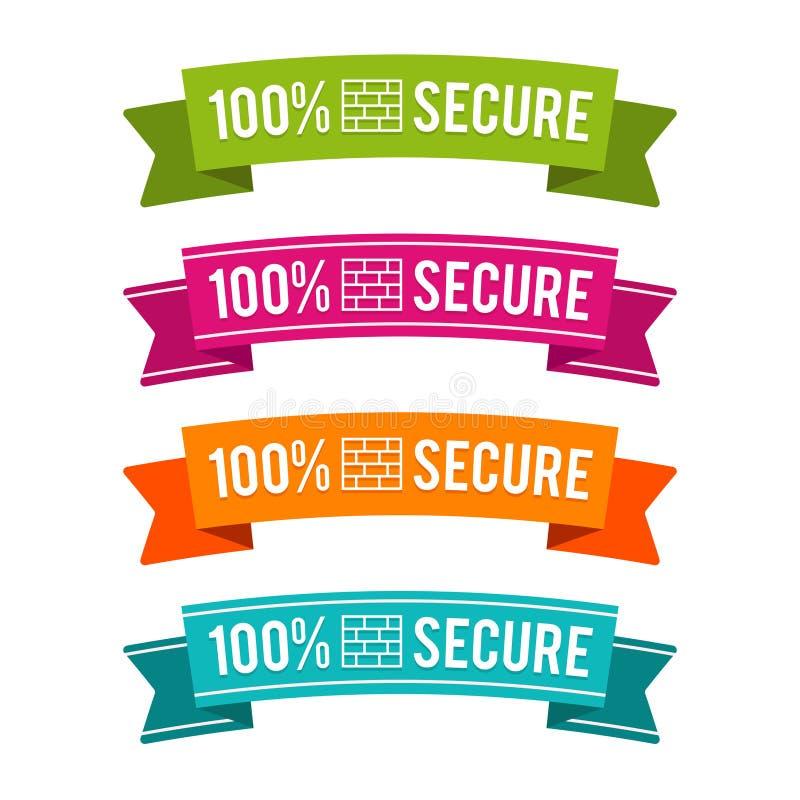 五颜六色的100%安全丝带 Eps10向量 向量例证