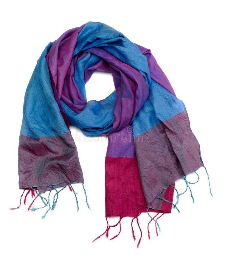 五颜六色的围巾丝绸 库存图片