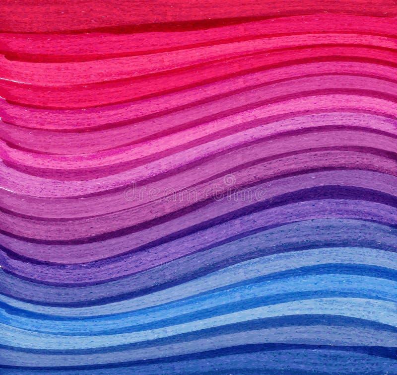 五颜六色的水彩摘要background.r 库存例证