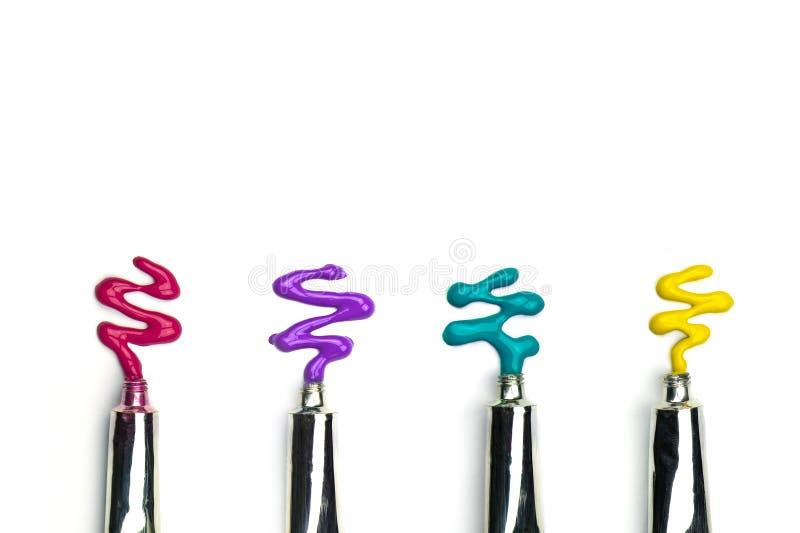 五颜六色的水彩管 库存图片