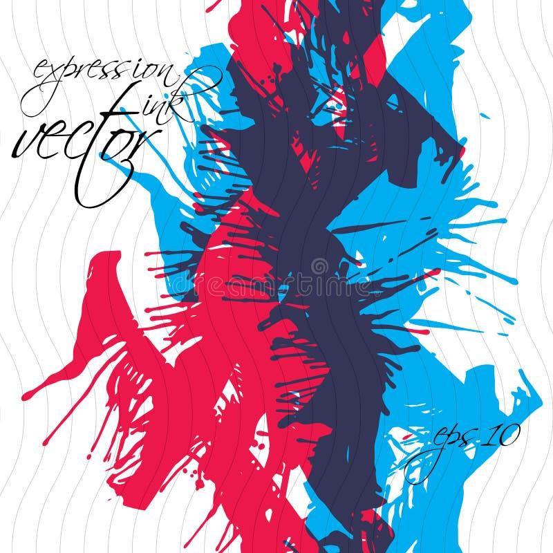 五颜六色的水彩街道画飞溅覆盖物元素 向量例证