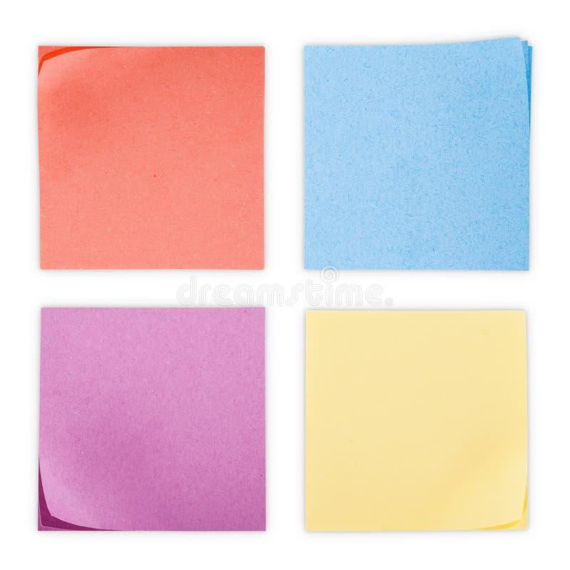 五颜六色的贴纸 免版税库存图片
