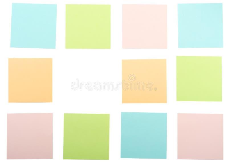 五颜六色的贴纸 库存照片