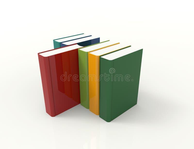 五颜六色的3d书 皇族释放例证