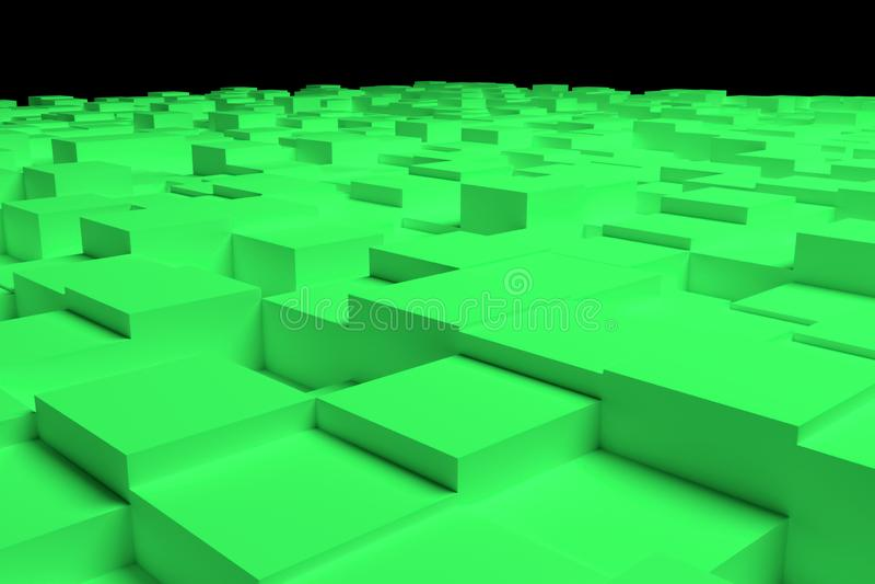 五颜六色的3d翻译 背景抽象形状构成、几何结构块或者立方体设计的,图表资源 皇族释放例证