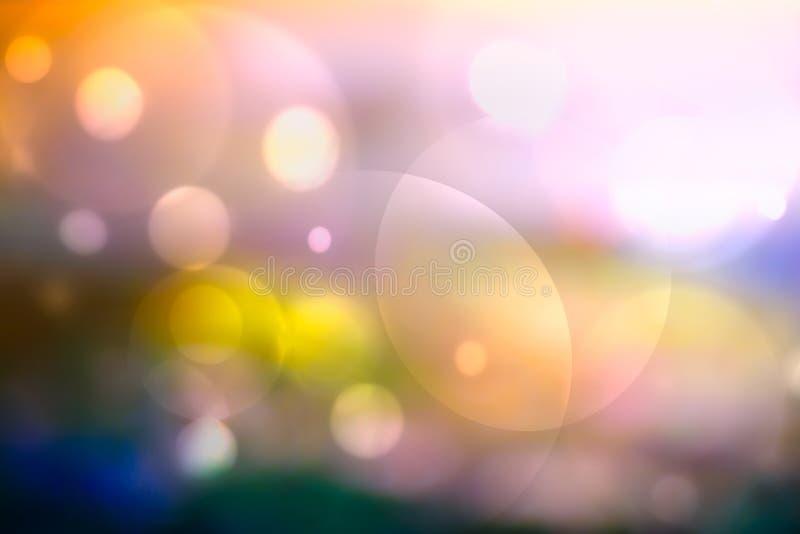 五颜六色的Bokeh摘要背景 Defocused五颜六色的bokeh背景 免版税库存照片
