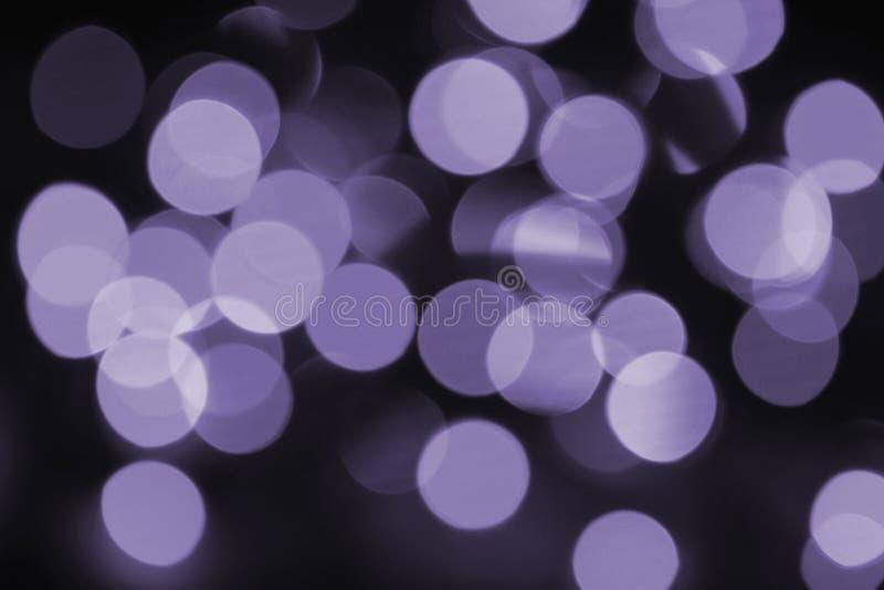 五颜六色的bokeh紫外 库存图片