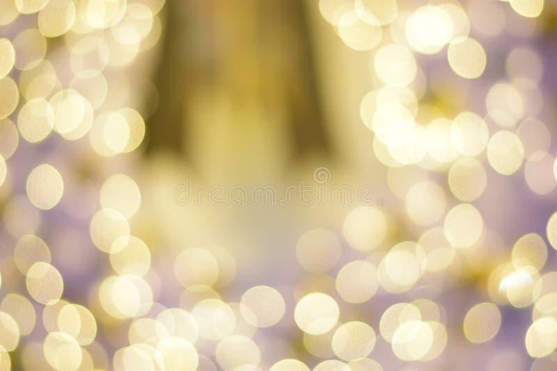 五颜六色的bokeh被弄脏的抽象背景 圣诞节和新年党概念 图库摄影