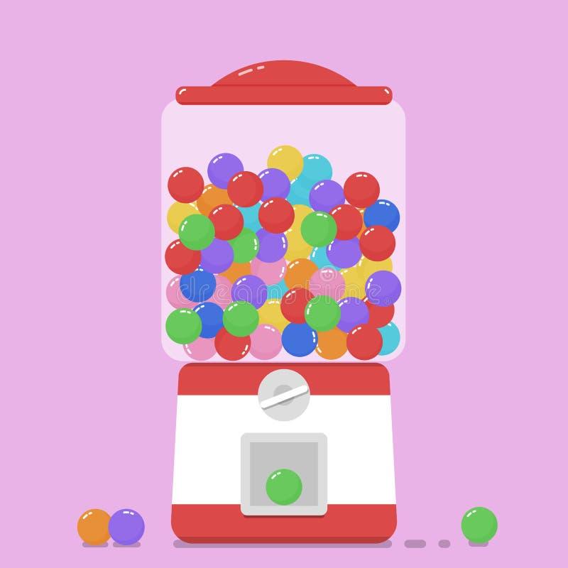 五颜六色的bubblegum gumball机器 向量例证