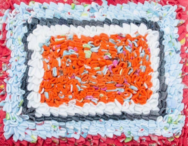 五颜六色的doomat纹理和背景 免版税库存照片
