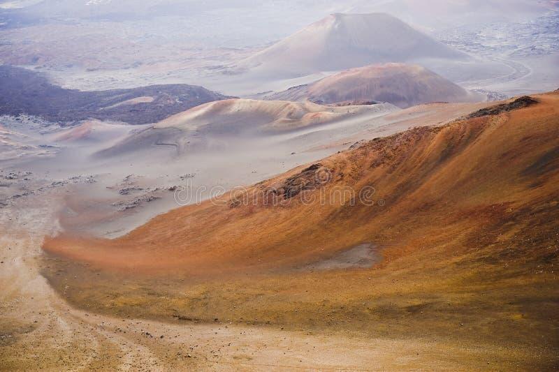 五颜六色的haleakala国家公园 免版税库存图片