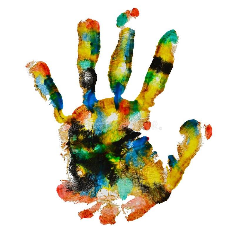 五颜六色的handprint 库存照片