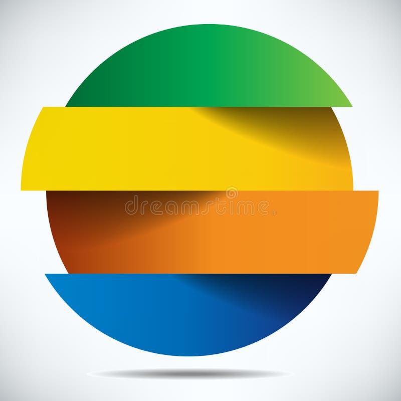 五颜六色的infographics横幅设计 向量例证