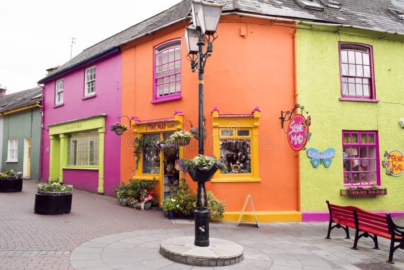 五颜六色的Kinsale,爱尔兰 库存照片