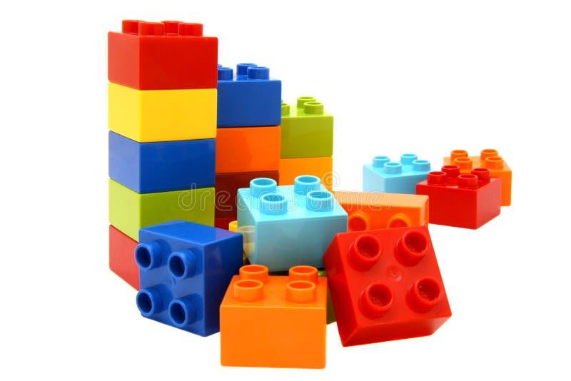 五颜六色的lego积木 库存图片