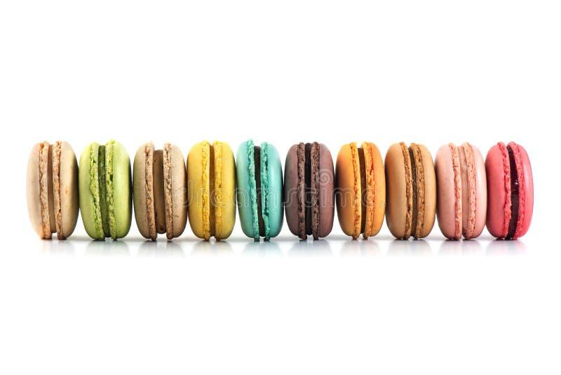 五颜六色的macarons 图库摄影