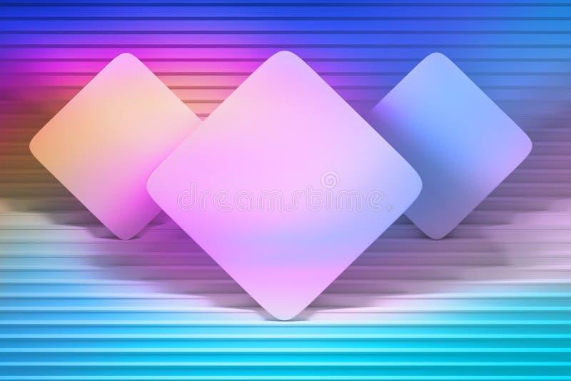 五颜六色的presentaiton嘲笑与方形的卡片 库存例证