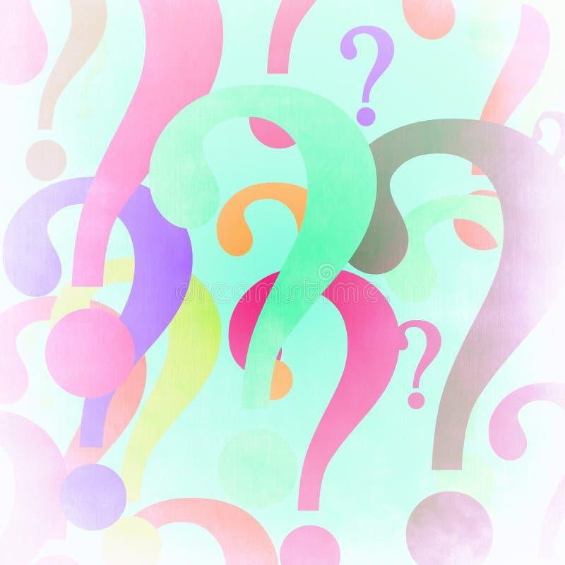 五颜六色的questionmarks 皇族释放例证