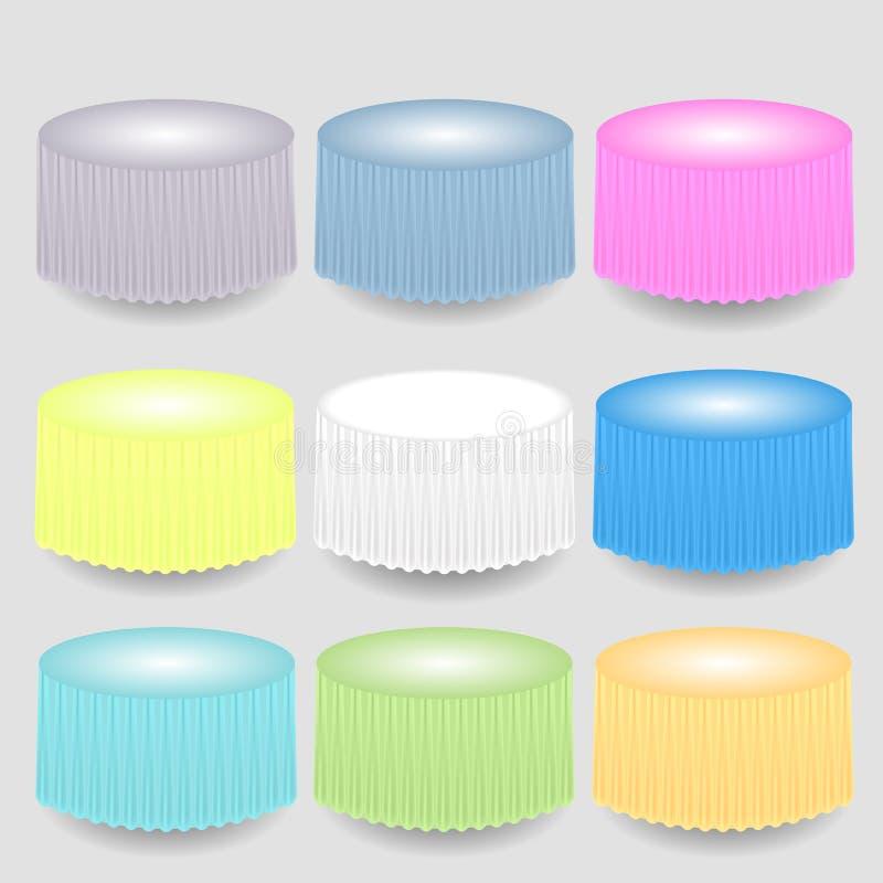 五颜六色的Tableclothes 向量例证