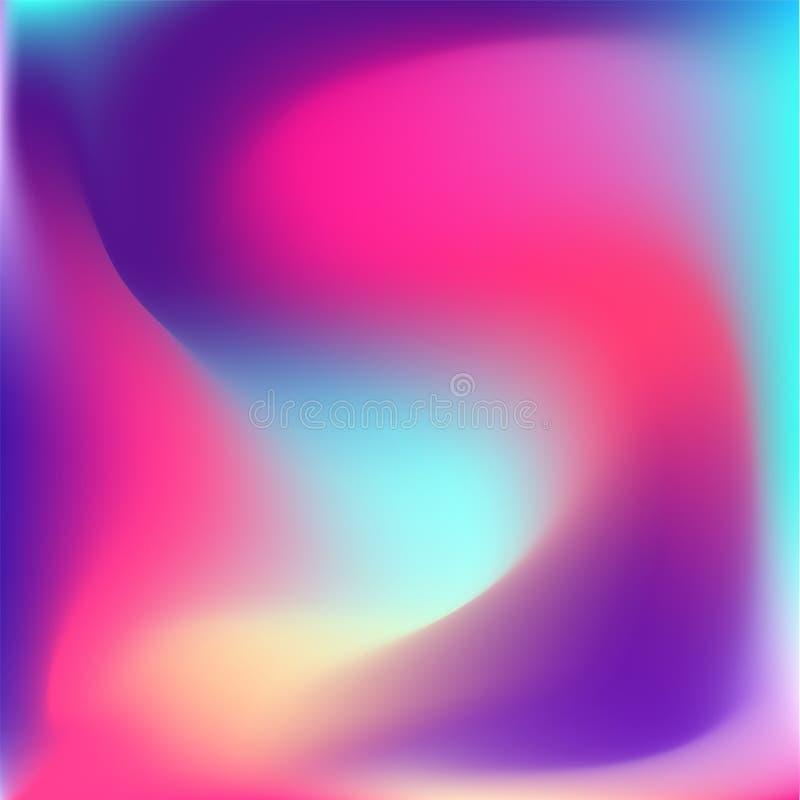 五颜六色的vibrand明亮的梯度背景 向量例证